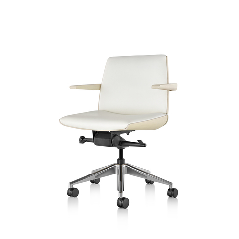 Clamshell Conference Chair Mid Back Arm Ash View