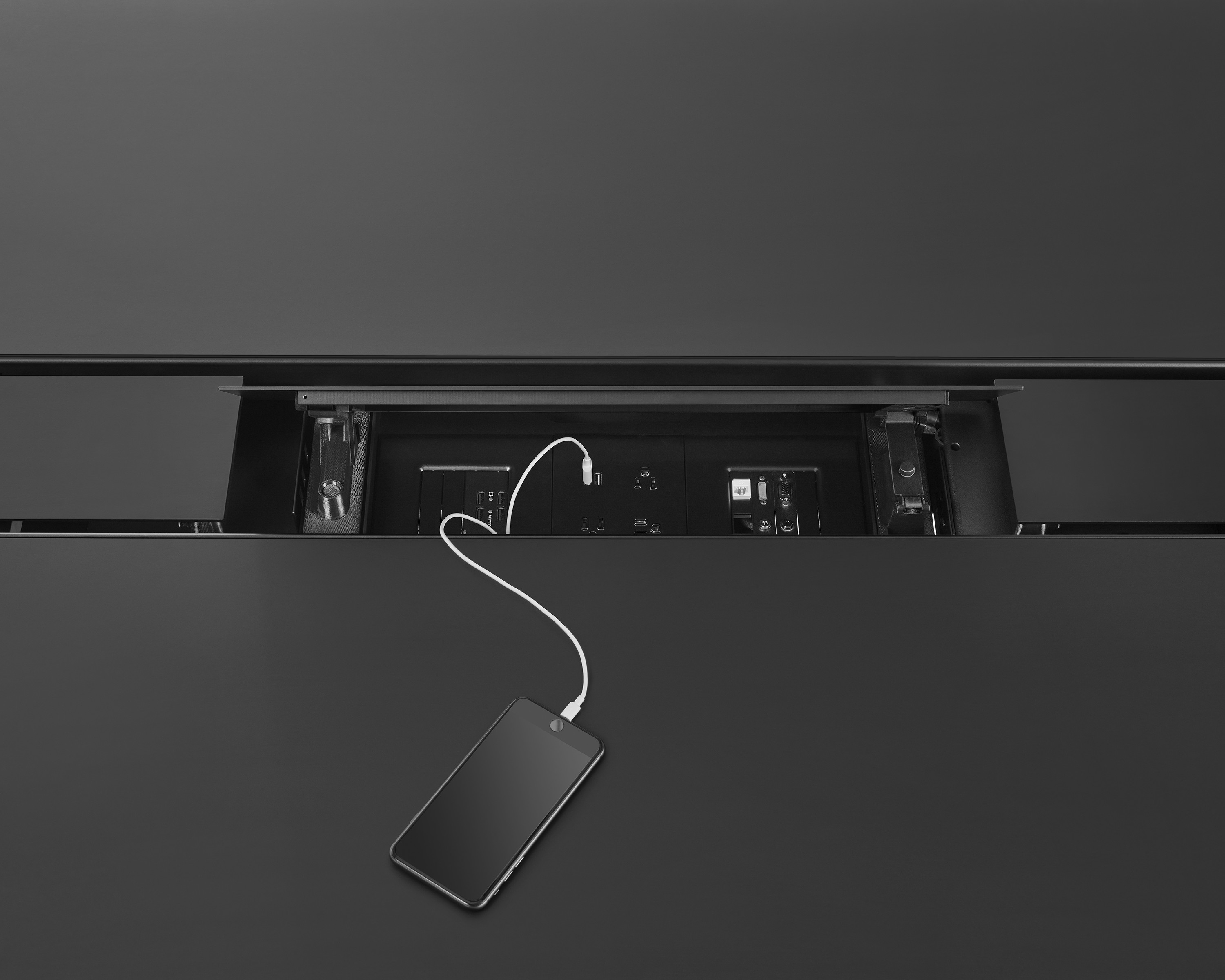 Geiger Axon Conference Tables Power Trough