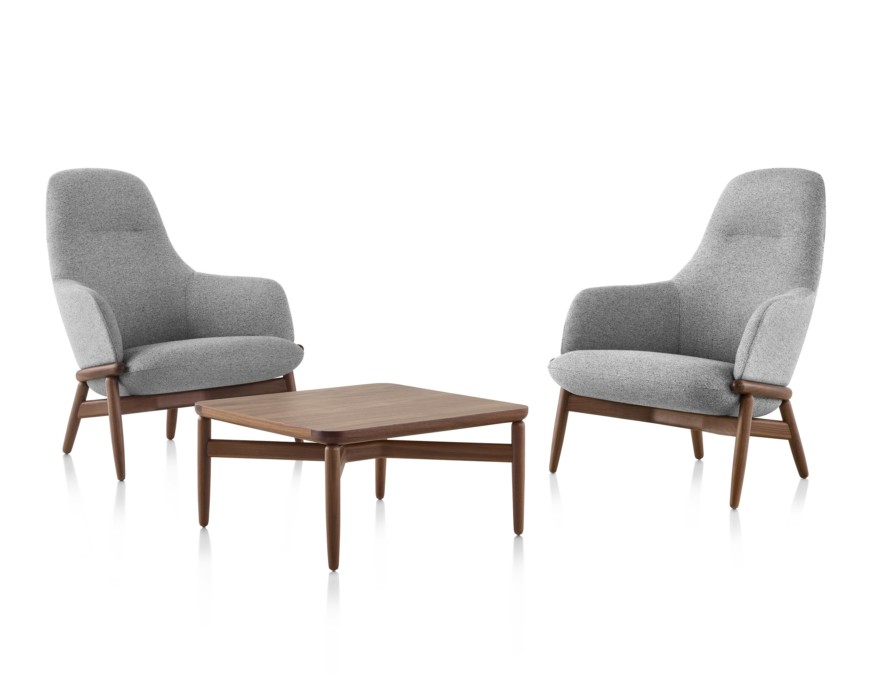 Geiger Reframe Lounge Chairs Midback Chairs And Coffee Table