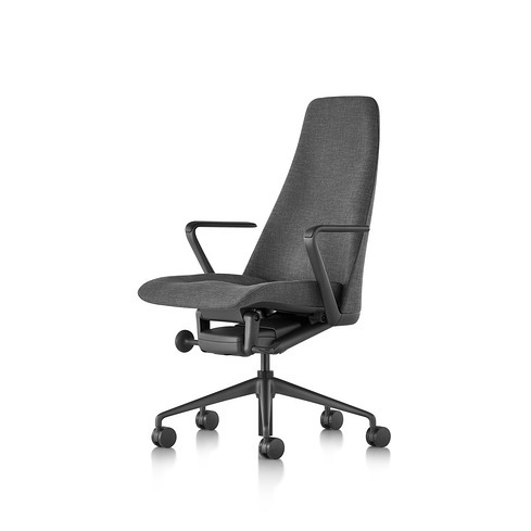 Geiger Taper Chair Grey Fabric Upholstered Task Chair