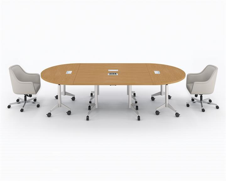 Mp Flex Conference Table Configuration With Bumper Chairs